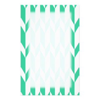 White and Green Abstract Graphic Pattern. Customised Stationery