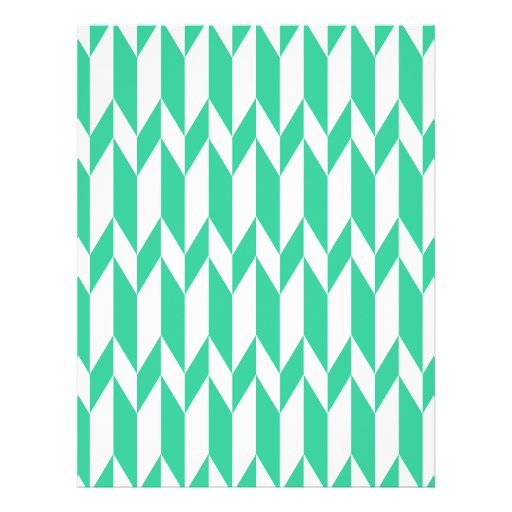 White and Green Abstract Graphic Pattern. Custom Flyer