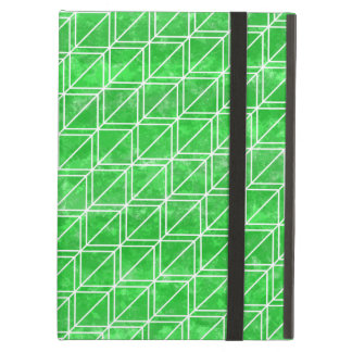 White and green geometric cube pattern iPad air case