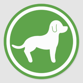 White And Green Pets Welcome Sticker