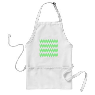 White and Green Zigzags. Standard Apron
