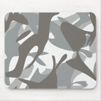 White and Grey Camouflage II Mouse Pad