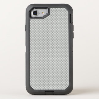 White and Grey Carbon Fibre Polymer OtterBox Defender iPhone 8/7 Case