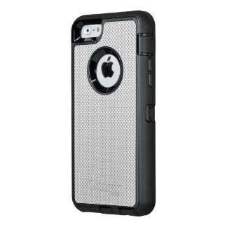 White and Grey Carbon Fibre Polymer OtterBox iPhone 6/6s Case
