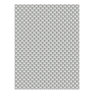 White and Grey Kevlar Carbon Fiber Postcard