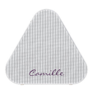 white and grey stripes personalized by name