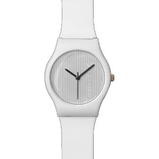 white and grey stripes personalized by name watch