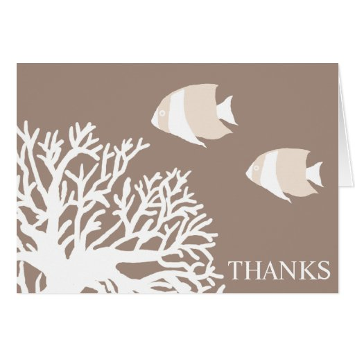 White And Ivory Tropical Fish Thank You Zazzle