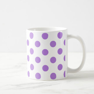White and Lavender Polka Dots Coffee Mug
