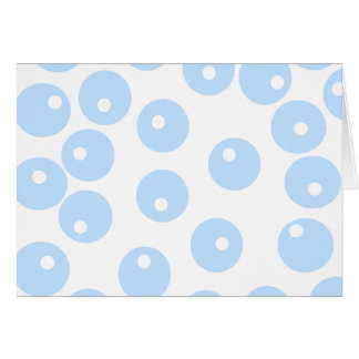White and light blue retro pattern. note card