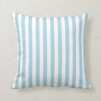 White and Light Blue Stripes Cushion