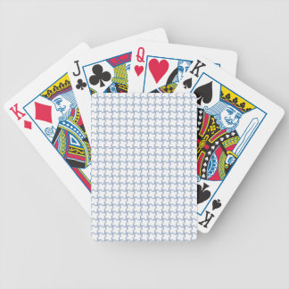 White and Light Blue Tiled Pattern Bicycle Playing Cards