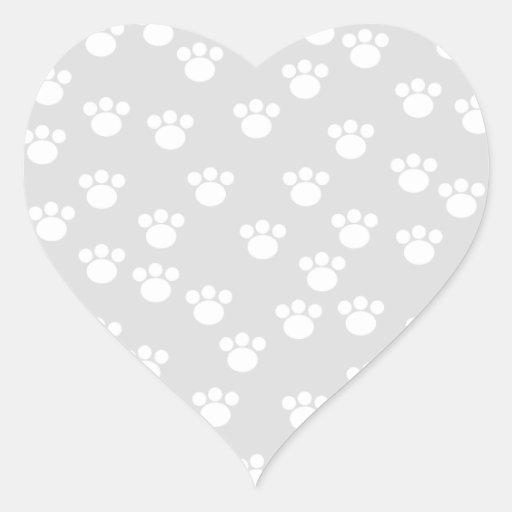 White and Light Gray Paw Print Pattern. Sticker