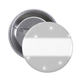 White and Light Gray Star Pattern. 6 Cm Round Badge
