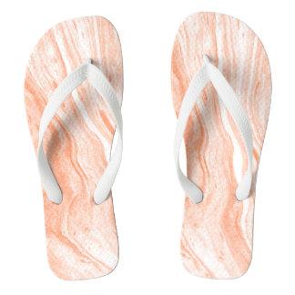 White And Light Orange Marble Stone Thongs