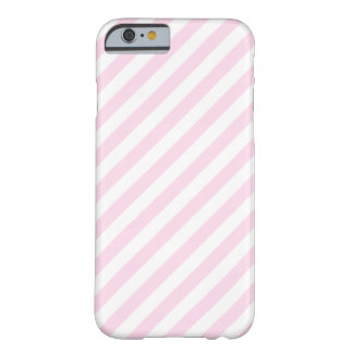 White and Light Pink Stripes. Barely There iPhone 6 Case