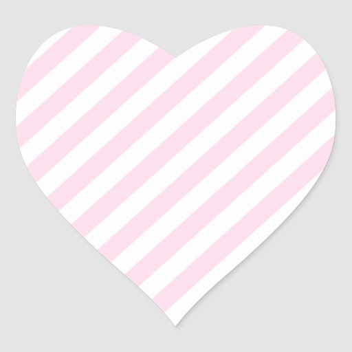 White and Light Pink Stripes. Sticker