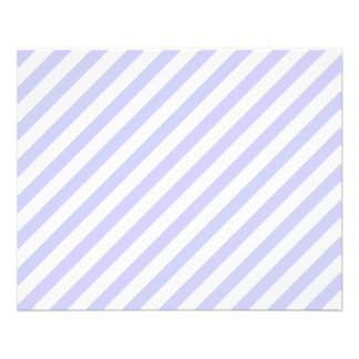 White and Light Purple Stripes. Flyers