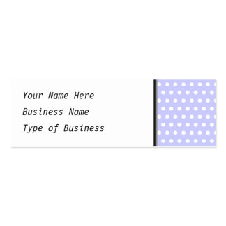 White and Lilac Purple Polka Dot Pattern Spotty Business Card Template