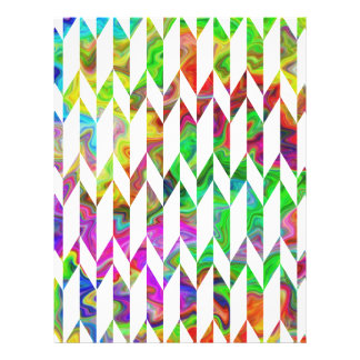 White and Multicolor Abstract Graphic Pattern. Full Color Flyer