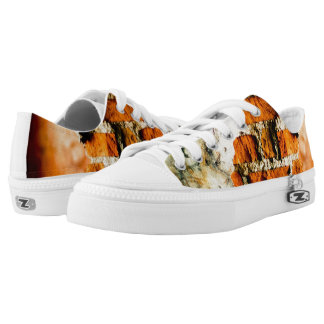 White and orange Broken brick wall Low Tops