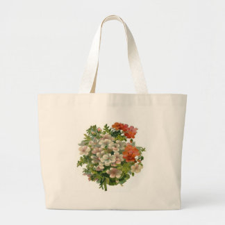 White and Orange Flowers Tote Bags