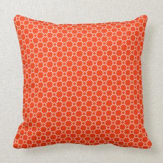 White And Orange Geometric Seamless Pattern Cushion