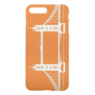 White and Orange London Bridge Silhouette iPhone 8 Plus/7 Plus Case