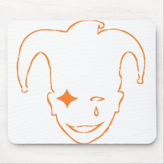White And Orange MTJ Mouse Pad