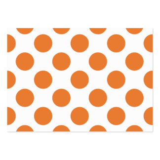 White and Orange Polka Dots Business Card