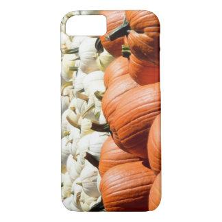 white and orange pumpkin phone case