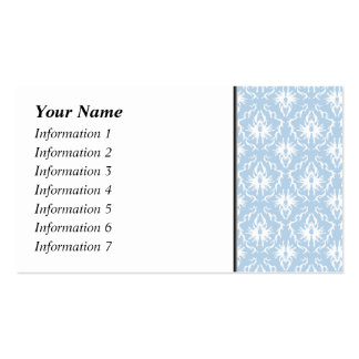 White and Pale Blue Damask Design. Pack Of Standard Business Cards