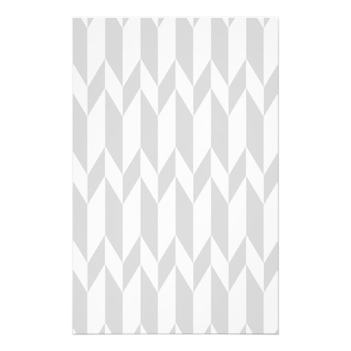 White and Pastel Gray Abstract Graphic Pattern. Full Color Flyer
