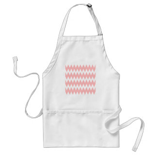 White and Pastel Pink Zigzags. Standard Apron