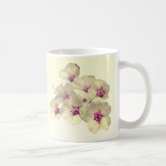 White and Pink Floral Coffee Mug