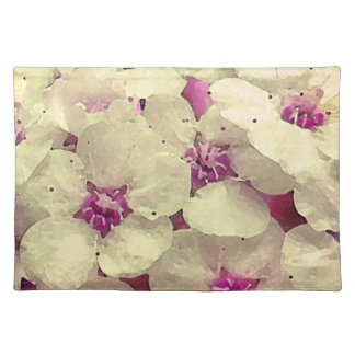White and Pink Floral Placemat
