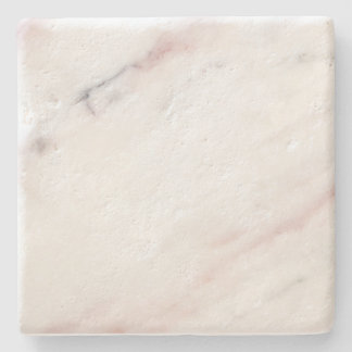 White and Pink Marble Coaster