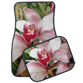 White and Pink Phalaenopsis Orchid Car Mat