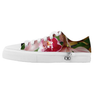 White and Pink Phalaenopsis Orchid Printed Shoes