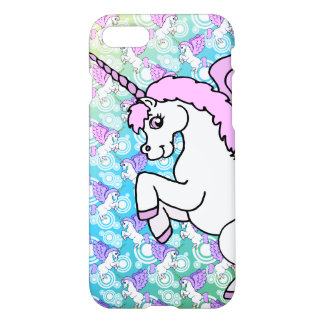White and Pink Unicorn iPhone 7 Case