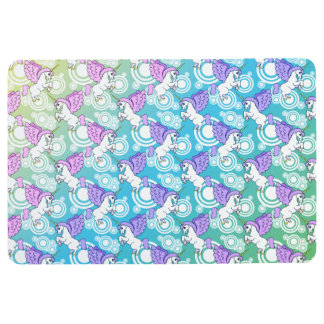 White and Pink Unicorn pattern Floor Mat