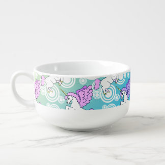 White and Pink Unicorn Soup Mug