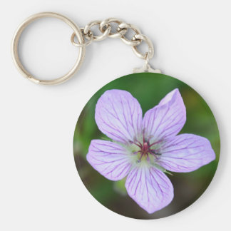 White and Pink Wildflower in the Sandia Mountains Key Chains