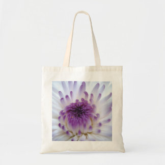 White and Purple Flower Canvas Bag
