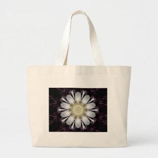 White and Purple Flower Jumbo Tote Bag