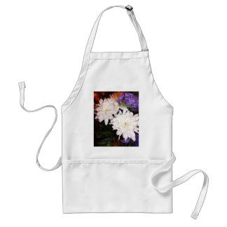 White and Purple Flowers Standard Apron