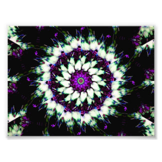 White and Purple Kaleidoscope Mandala Photo