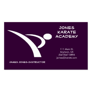 White and Purple Martial Arts Business Card