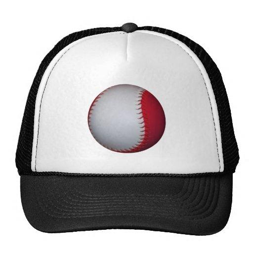 White and Red Baseball / Softball Trucker Hat