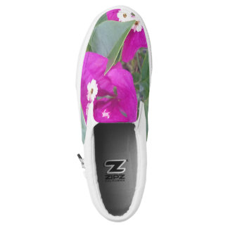 WHITE AND RED FLOWERS Slip-On SHOES